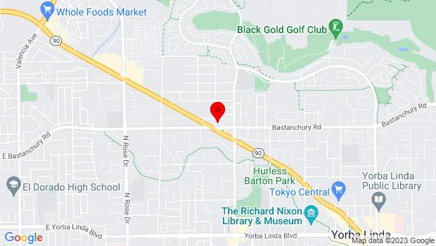 Google Map of 17451 Bastanchury Rd, Suite 120D, Yorba Linda, CA 92886