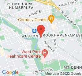Google Map of 1749B+Weston+Rd%2CToronto%2COntario+M9N+1V5