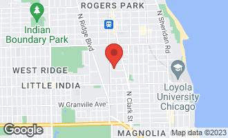 Map of 1752 West Arthur Avenue CHICAGO, IL 60626