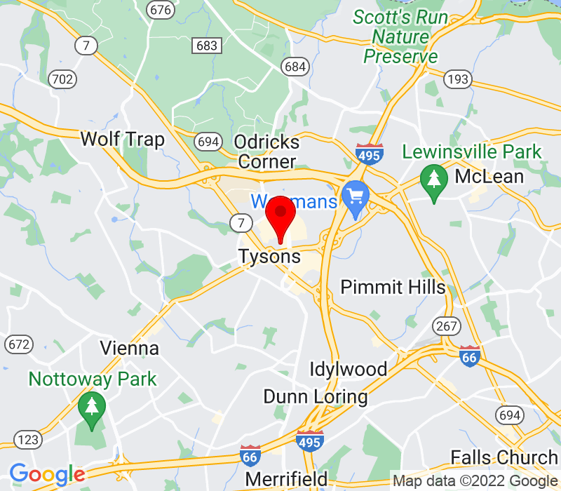 Click to view Google maps office address 1753 Pinnacle Drive, 4th Floor, McLean, VA 22102