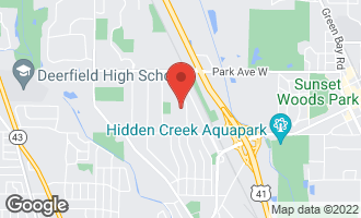 Map of 1755 Sherwood Road Highland Park, IL 60035