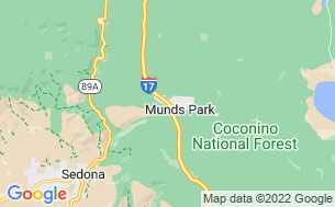 Map of Munds Park RV Resort