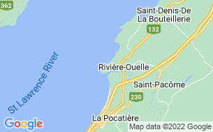 Map of Camping Rivière-Ouelle