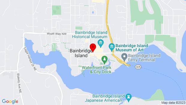 Google Map of 176 Winslow Way E., Bainbridge Island, WA 98110