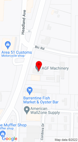 Google Map of AGF Machinery 1760 Reeves Street, Dothan, AL, 36303