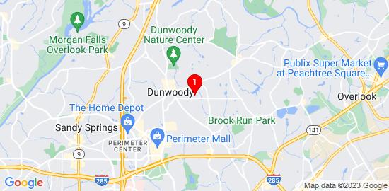 Google Map of 1761 Kenston Walk Dunwoody, GA 30338