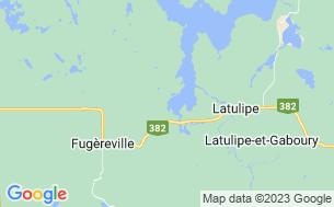 Map of Camping Du Domaine De La Baie Gillies