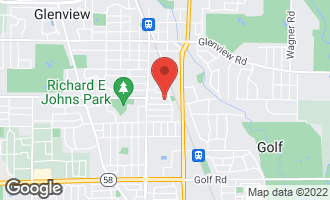 Map of 1771 Central Road GLENVIEW, IL 60025