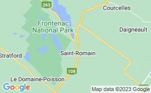 Map of Camping Chalets Et Spas Des Pignons Rouges