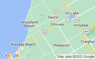 Map of Wasaga Pines Cottage & RV Resort - Parkbridge