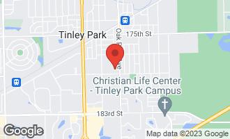 Map of 17822 Oak Park Avenue TINLEY PARK, IL 60477