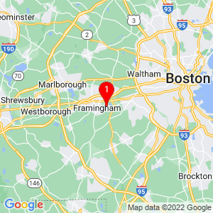 Google Map of 179 W Central St, Natick, MA, 01760