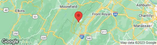 Map of 179 VICKIE WAY BASYE, VA 22810