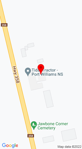 Google Map of VanOostrum JCB 1790 Highway 358, Port Williams, Nova Scotia, Canada, B0P 1T0