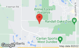 Map of 17N385 Binnie Lakes Trail WEST DUNDEE, IL 60118