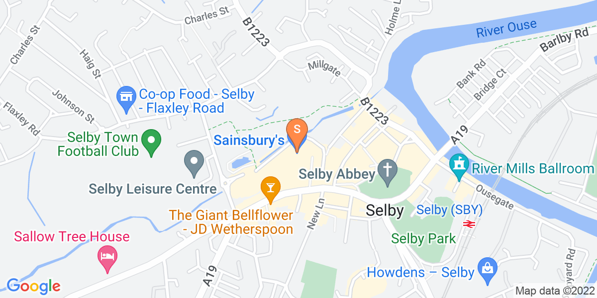 Google Map of 18 Abbey Walk Selby YO8 4DZ