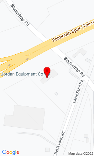 Google Map of Jordan Equipment Company 18 Blackstrap Road, Falmouth, ME, 04105