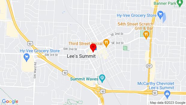 Google Map of 18 SW Third Street, Lees Summit, MO 64063