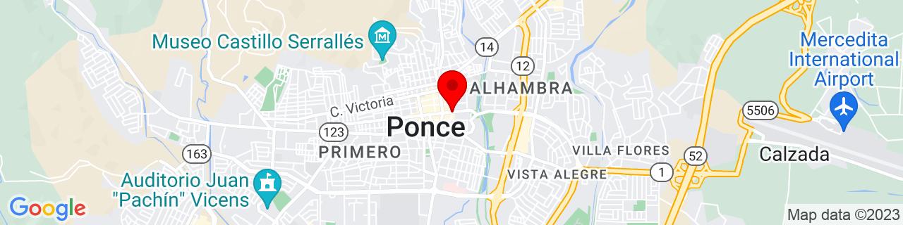 Google Map of 18.0127162, -66.61089609999999