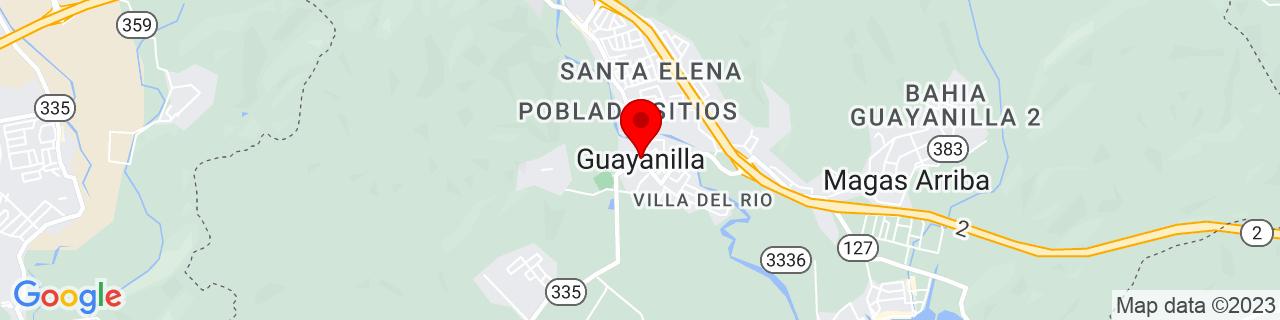 Google Map of 18.0191314, -66.791842