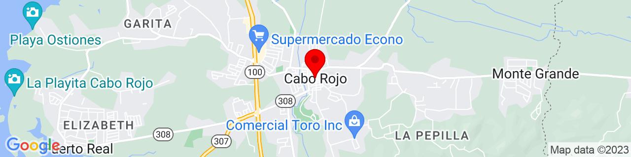 Google Map of 18.0866265, -67.14573469999999