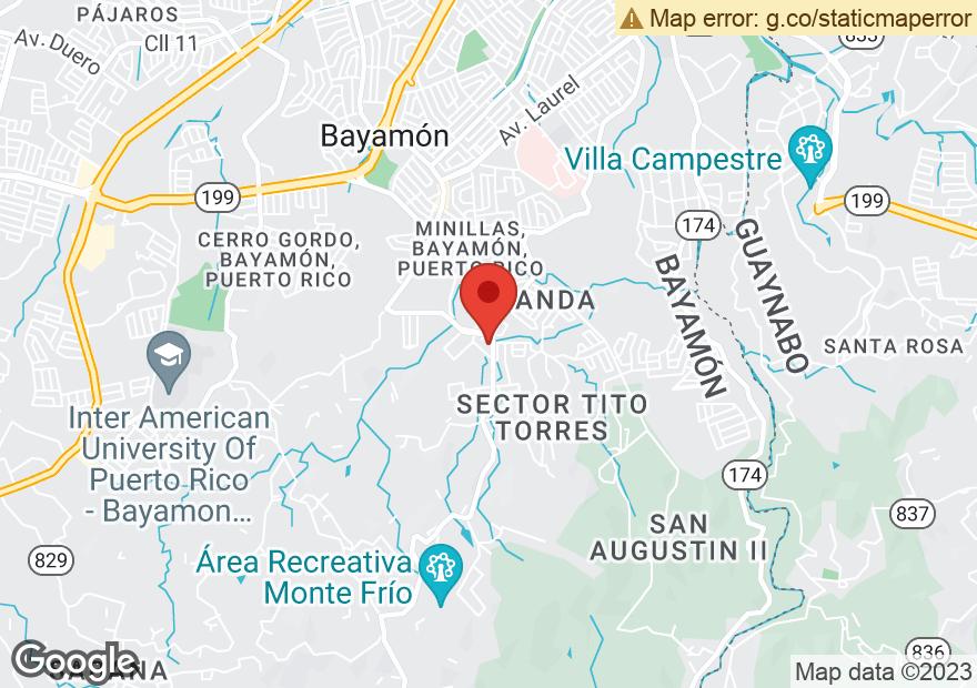 Google Map of AVE HOSTOS ESQ CARR 831