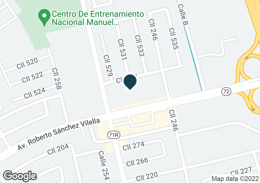 Google Map ofCOMMANDANTE & CAMPO RICO