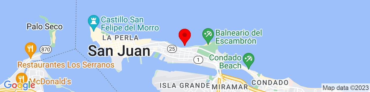 Google Map of 18.4663803, -66.09691169999999