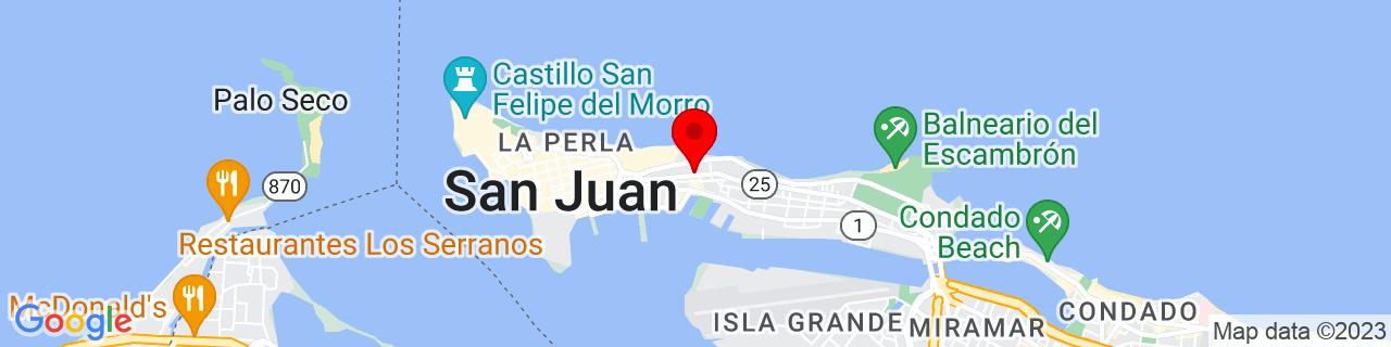 Google Map of 18.46638888888889, -66.10583333333332