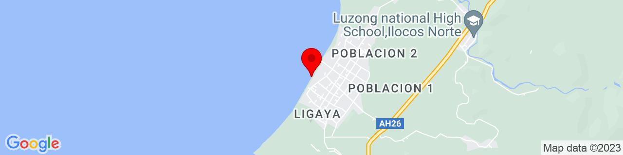 Google Map of 18.56103611111111, 120.78285277777778