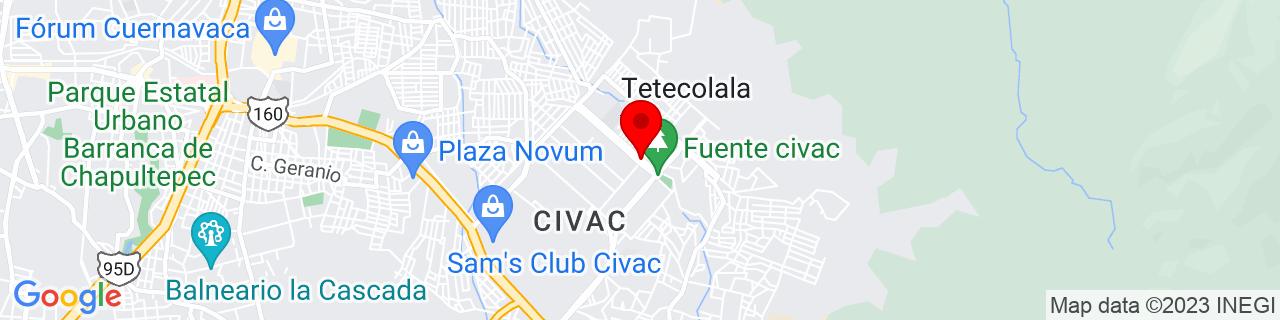Google Map of 18.91667, -99.16667