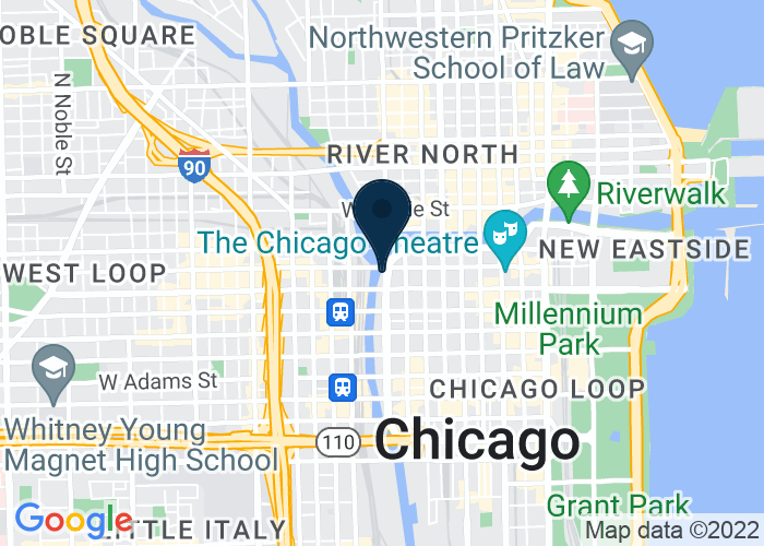 Map of 180 N Upper Wacker Dr., Chicago, IL 60606