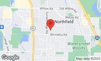 Map of 180 Coach Road Northfield, IL 60093