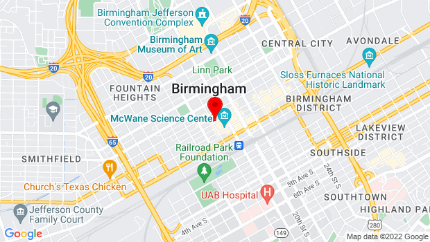 Google Map of 1800 Third Avenue North   , Birmingham, AL 35203