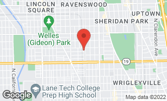 Map of 1800 West Warner Avenue CHICAGO, IL 60613