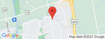 Google Map of 18001+Leslie+Street%2CNewmarket%2COntario+L3Y+9A4