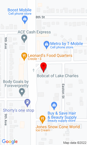 Google Map of Bobcat of Lake Charles 1801 Gertsner Memorial Boulevard, Lake Charles, LA, 70601-6736
