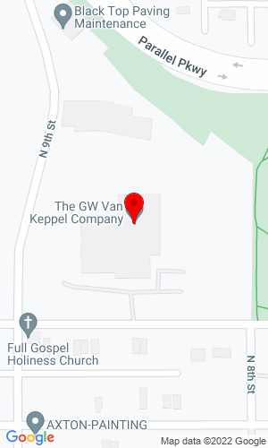 Google Map of Van Keppel Company 1801 N 9th Street, Kansas City, KS, 66101