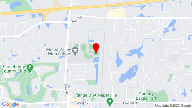 Google Map of 1801 N Eola Road, Naperville, IL 60567