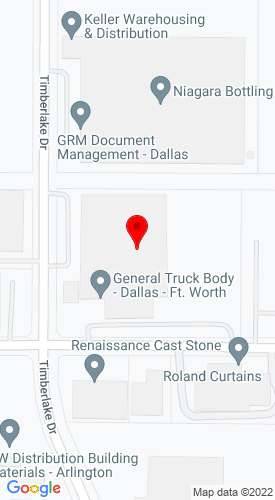 Google Map of General Body Metroplex 1801 Timberlake Drive, Arlington, TX, 76010