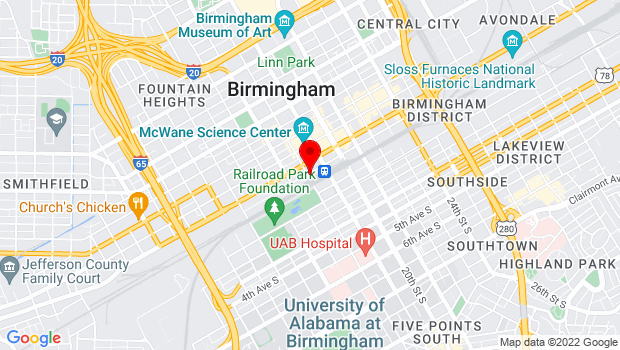 Google Map of 1801 Morris Avenue, Birmingham, AL 35203