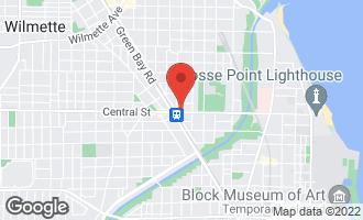 Map of 1801 Central Street EVANSTON, IL 60201