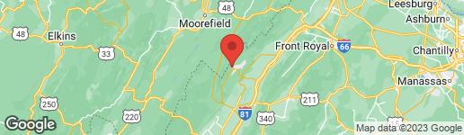 Map of 181 ROBERTS RUN BASYE, VA 22810