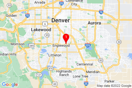 Google Map of 1812 East Hampden Avenue Unit C - 515 Aurora, CO, 80013