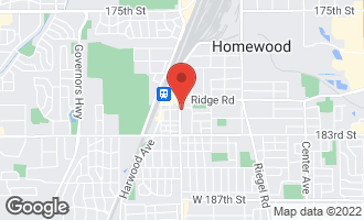 Map of 18129 Dixie Highway Homewood, IL 60430