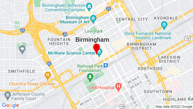 Google Map of 1817 Third Avenue North  , Birmingham, AL 35203