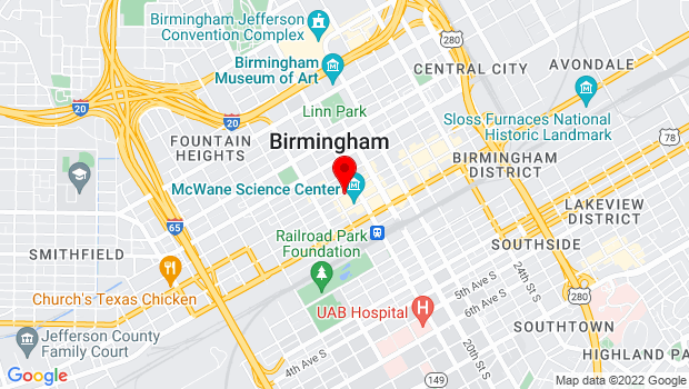 Google Map of 1817 3rd Avenue North, Birmingham, AL 35203