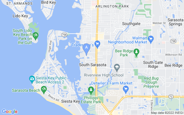 1818 N Lake Shore Dr Sarasota Florida 34231 locatior map