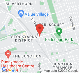 Google Map of 1818+St.Clair+Avenue%2CToronto%2COntario+M6N+1J5