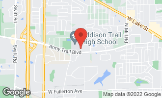Map of 182 North Flora Parkway ADDISON, IL 60101